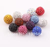 Wholesale New Crystal mm Shamballa Disco Ball Beads Rhinestone Beads ZBE23