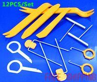 Wholesale set Auto Car Radio Door Clip Panel Trim Dash Audio Removal Installer Pry Tool Kit Plastic