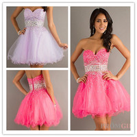 Custom Made 2013 Hot Sexy Organza Sweetheart Pink Purple Bea...