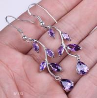 Cheap Party Sterling Silver Earrings Best Sterling Silver Amethyst Amethyst Dangle Hook