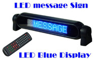 Wholesale 12V CAR LED LIGHT SIGN ADVERTISING MESSAGE SCROLLING BOARD DISPLAY REMOTE CONTROL Blue color
