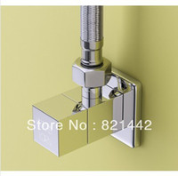 Wholesale Bathroom accessories GUARANTEE BRASS triangle valve hot and cold water valve