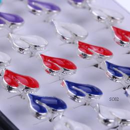 Promotion boîtes à bijoux dames 1 boîte / 20 paires / 40pcs 925 Sterling Silver 11mm Ear Stud Femme Lady Pretty Assorted Boucles d'oreilles en coeur coloré Bijoux Fashion SC62