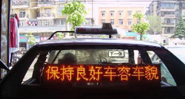 p6 led display 6mm Red color indoor car Taxi advertising display screen