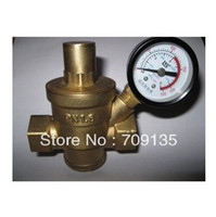 Wholesale Freeshipping DN15 inch water brass pressure reducing valve with pressure gauge