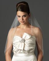 ivory wedding veils - 2013 Elegant One Layer Tulle Short Veils White Ivory Wedding Veil Waist Length Bridal Veil ZJ229