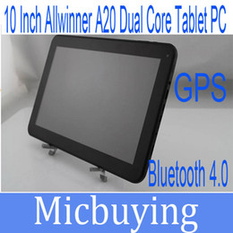 10 inch allwinner A20 dual core tablet pc android 4.2 bluetooth4.0 GPS Dual Camera 1024x600Px