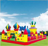 Wholesale Inflatable bouncy castle bouncer play house kids toys trampoline big park children bouncers business equipment inflatables Christmas gift