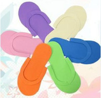 Wholesale Convenience Slippers Disposable Simple Slippers EVA Foam Salon Spa Bath Mixed Colors Flip Flops FreeShipping