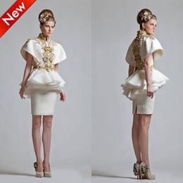 Hot Sale ! Vintage High Neck Sheath Applique Mini Cap Sleeves Party Dress Bridesmaid Dress