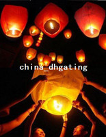 Wholesale 30 pure color High quality flying paper sky lanterns Manufacturer selling paper sky Wish flying lantern