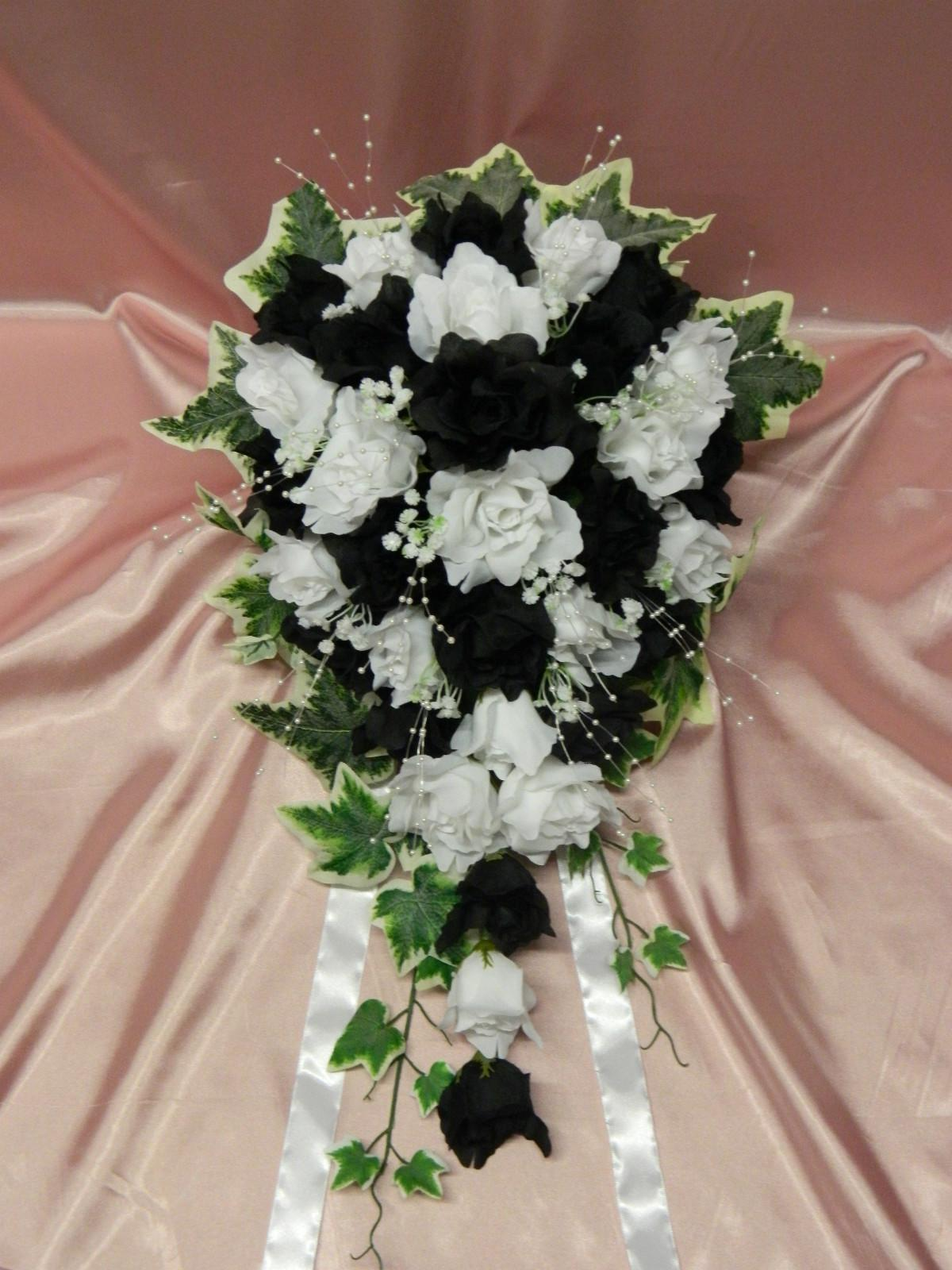 wholesale silk artificial wedding flowers roses with ivy bridal teardrop bouquet 04 flower. Black Bedroom Furniture Sets. Home Design Ideas