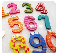 Wholesale pieces set sets Creative items Numbers Wooden fridge magnet sticker Refrigerator magnet FM