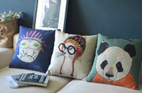 Wholesale 3PCS cute little cat and owl cushion animal series pillows decorate panda sofa cover cushion cover