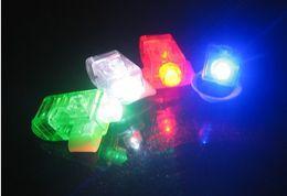 Wholesale Creative Laser Finger Light Laser Finger Lamp LED Finger Light Beams Ring Torch For Party opp package
