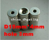 Wholesale 30 pack super Powerful n35 NdFeB Neodymium Disc Countersunk Ring Magnets D15 mm hole mm