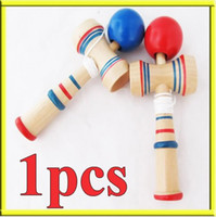 Wholesale Min order mix order Funny Bahama Traditional Wood Game Skill Kendama Ball Children Educational Toy
