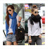 Long Lace Woman Vogue of new fund of 2013 ms pure color scarf super long joker fashion scarves shawls scarf