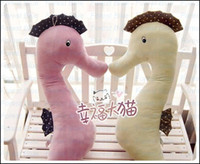 Video Games Multicolor Grownups EMS Free Shipping Plush Sea Horse Hippocampus Sleep pillow stuffed animals toys cushion,boyfriend Gifts 4 colors,1.2 m Length