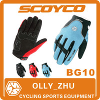 Wholesale 2013 Scoyco BG10 Bicycle Full Finger GEL Gloves Cycling Riding Sports Mens Women Bike Windproof Wram Winter Accessories