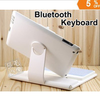 Wholesale Degree Rotatable Bluetooth Keyboard Cover Stand Case Swivle Wireless keypad for iPad New iPad