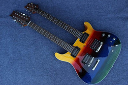 Custom China Guitar Double neck guitars 6 strings 12 strings Electric Guitar in colored Model p 13 0707