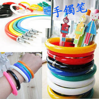 Wholesale 50 pieces Mixed Colors Fold Creative Cute School Boys Girls bracelet ball pen ball point pen combo
