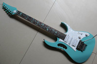 Wholesale New HOT SALE Chinese Electric Guitar Vmodel green light blue