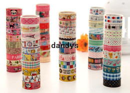 Wholesale cute cartoon color tape stick tape color printed tape stationery tape Office Adhesive Tape Fashion New