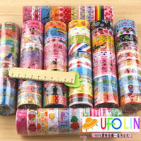 stationery - cute cheap cartoon color tape stick tape color printed tape stationery tape Office Adhesive Tape Fashion New
