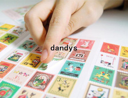 Wholesale New vintage style Francoise stamp paper sticker sheets per set note sticker Decoration label