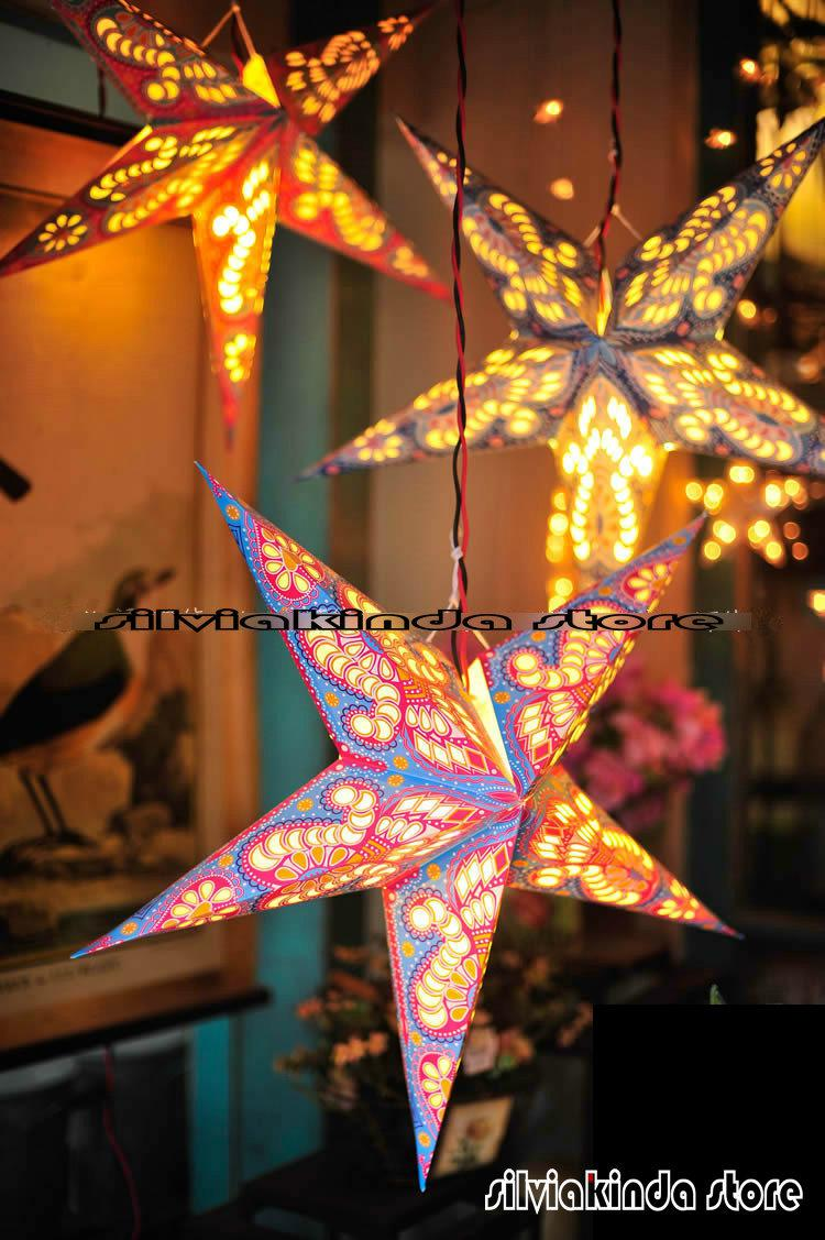 60cm 24inch Paper Star Light Hanging Lantern Handmade