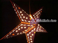 Wholesale 60cm inch paper star light hanging lantern handmade decoration india retail brand new
