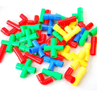 Wholesale Variety plastic pipe building blocks Children s educational toys