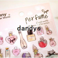 Wholesale Fashion sweet D french perfume PVC decoration stickers DIY sticker
