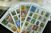 Wholesale Children s stationery A30 Europe vintage stamp sticker set sheets per pack cute note sticker Decoration label Multifunction