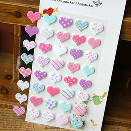 Wholesale New sheets set sweet D heart pvc sticker DIY quality sticker