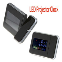 Mechanical Desk Clocks H8627 LCD Display Digital Screen LED Projector Alarm Clock Weather Station ,Freeshipping Dropshipping Wholesale