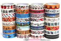 Wholesale New High quality painted vintage floral lace series washi masking paper tape washi tape DIY tape