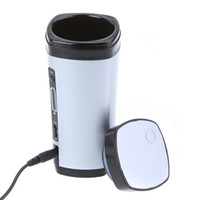 Wholesale Rechargeable USB Powered Coffee Tea Cup Mug Warmer Automatic Stirring Silver as Gift Novelty Item Free Drop Shipping