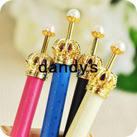 Wholesale New korean fashion quality crown Mechanical Pencils plastic pencils colors mix