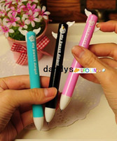 plastic ball pen - creative Lovely wing double color ball pen ball pen plastic pen Children Gift