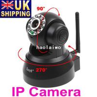 Wholesale UK Stock To UK EasyN Wireless IP Camera Webcam Web CCTV Camera WIFI IR Audio NightVision Black UPS