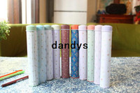 Cheap Free Shipping New fashion sweet flowers Tin Pencil case Pen box pencil holder