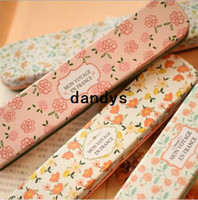 Wholesale New fashion hot spring flowers designs Tin Pencil case Pen box