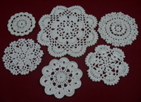 Wholesale cotton hand made crochet doily table cloth designs custom wedding decoration crochet applique tmh608