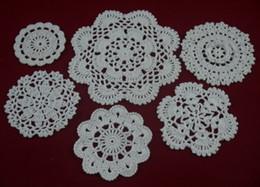 Wholesale - 100% cotton hand made crochet doily table cloth, 6 designs custom, wedding decoration crochet applique 30PCS LOT tmh608