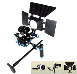 Plates-formes de caméra pour dslr à vendre-accessoires studio de système de support de stabilisation de l'épaule pour DSLR Caméscope DV / Matte Box + Follow Focus + vidéo Rig Support