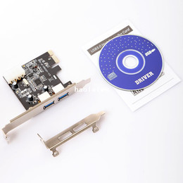 Wholesale 2 Port SuperSpeed Mini USB PCI E PCIE PCI Express pin IDE Connector Adapter Add On Card Low Profile