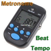 Wholesale LCD Digital Beat Tempo Metronome Black I16B Free Drop Shipping